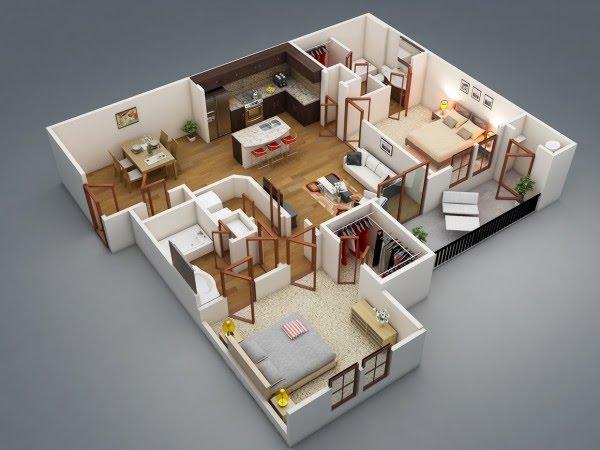 Thiết kế căn hộ Thành An Tower - Mẫu 3
