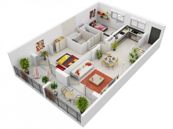 Thiết kế căn hộ Thành An Tower - Mẫu 1