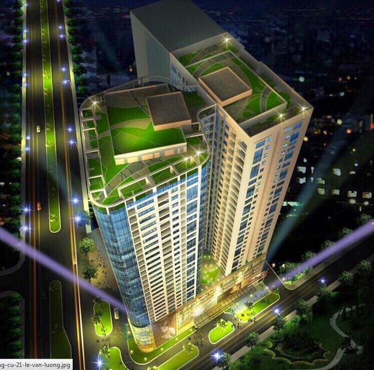 Phối cảnh dự án chung cư Thành An Tower - 21 Lê Văn Lương
