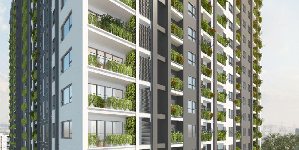 Thiết kế xanh ban công tại từng căn hộ Anland Nam Cường